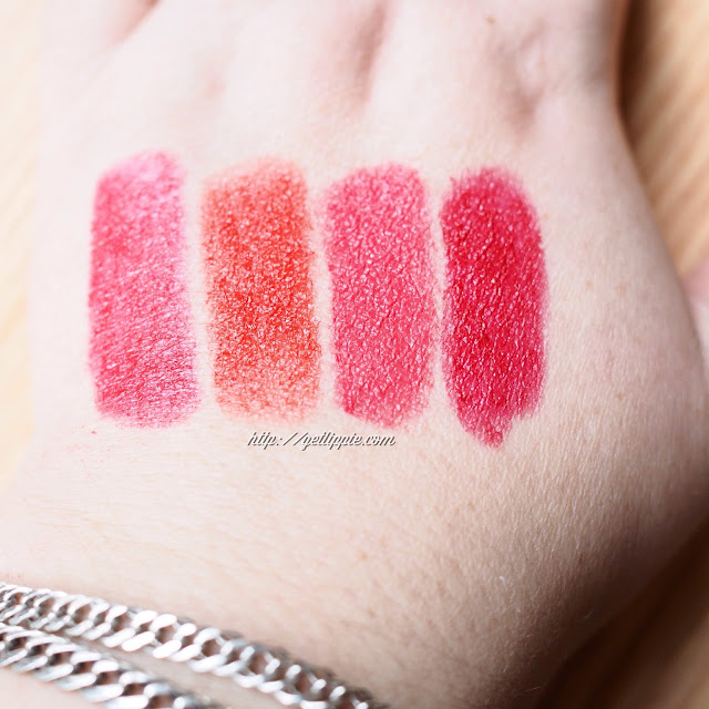 Swatches of Max Factor Marilyn Monroe Colour Elixir Collection