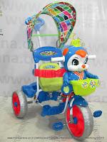 Royal RY19782C Baby JacQ Dobel Musik Ban Jumbo Kanopi Sepeda Roda Tiga