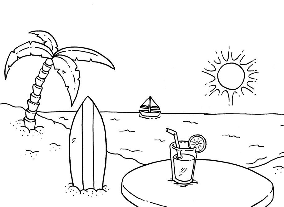 Photokabalfalah Gambar Mewarnai Pantai Yang Mudah Cute766