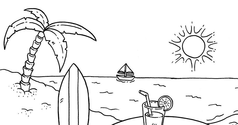 46 Cara Menggambar Dan Mewarnai Pemandangan Pantai