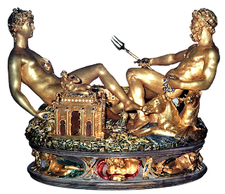 Saliera Sculpture by Cellini, Paris, France 1543