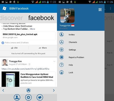 Download BBM WINDOWS PHONE FACEBOOK V3.0.1.25 MOD TERBARU UPDATE 2016