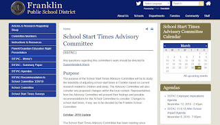 School Start Times Advisory Committee