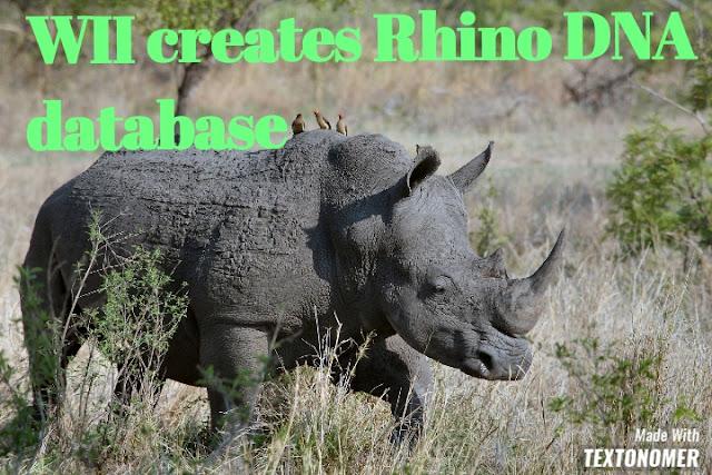 WII creates Rhino DNA Database