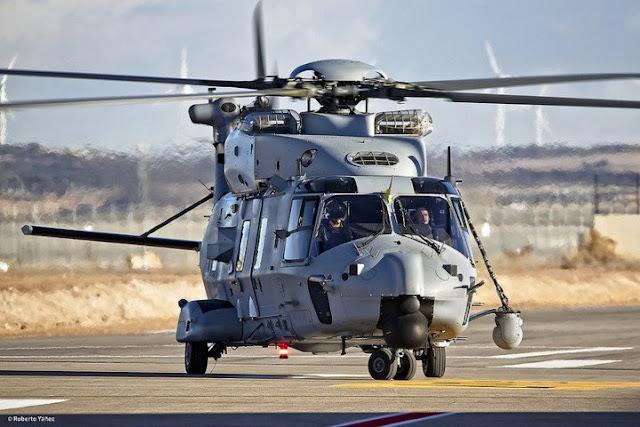El helicóptero NH-90 para el Ejército del Aire ya vuela en Albacete