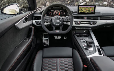 Audi RS5 Coupe car images - Interior look steering