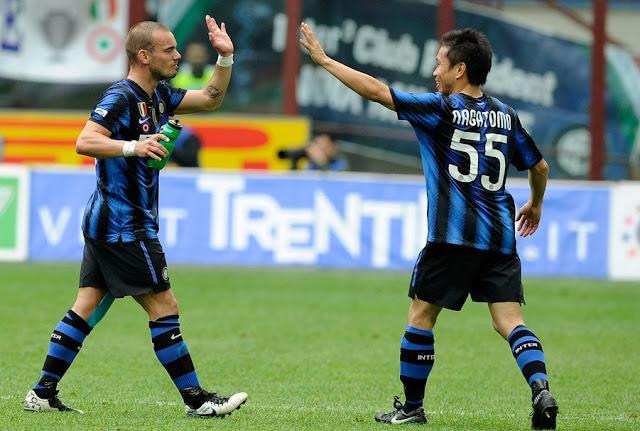 """Sneijder'den Nagatomo'ya """"Hiç düşünmeden git!"""""""