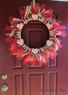 burlap and tulle Valentine wreath