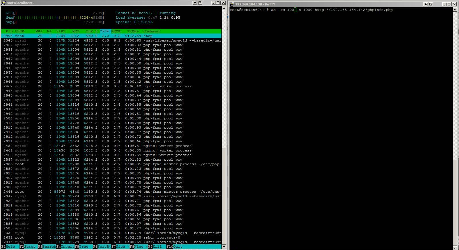 Benchmark - stress test your web server (Nginx, Apache, IIS
