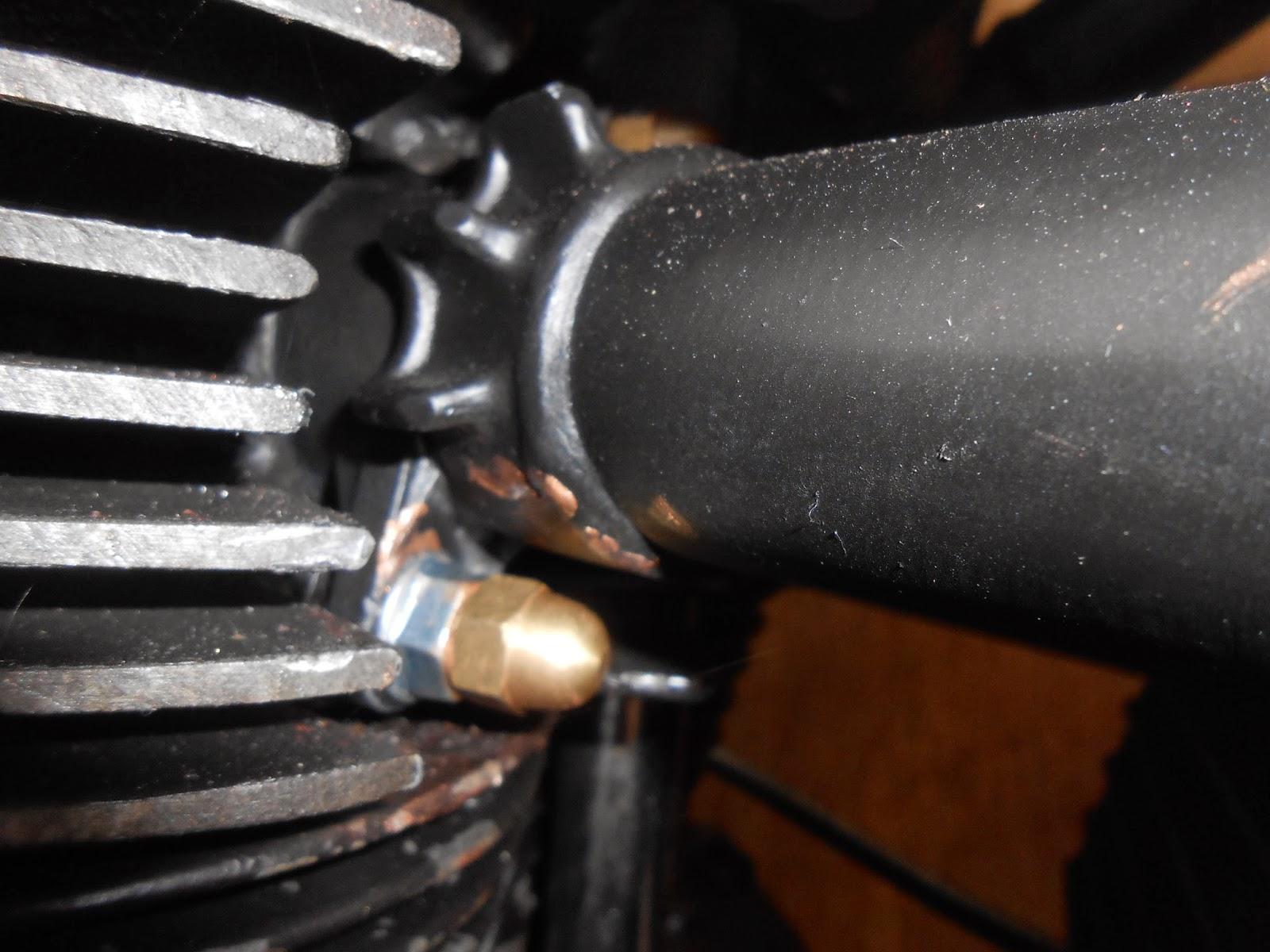 jebustown motorcycles: Triumph Bonneville exhaust studs sorted