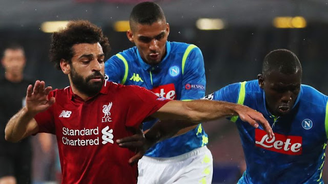 Liverpool Salah struggles with Napoli Defense