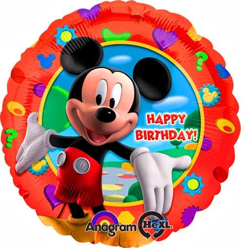 Круглые фольгированные шарики на день Рождения С Микки Маусом