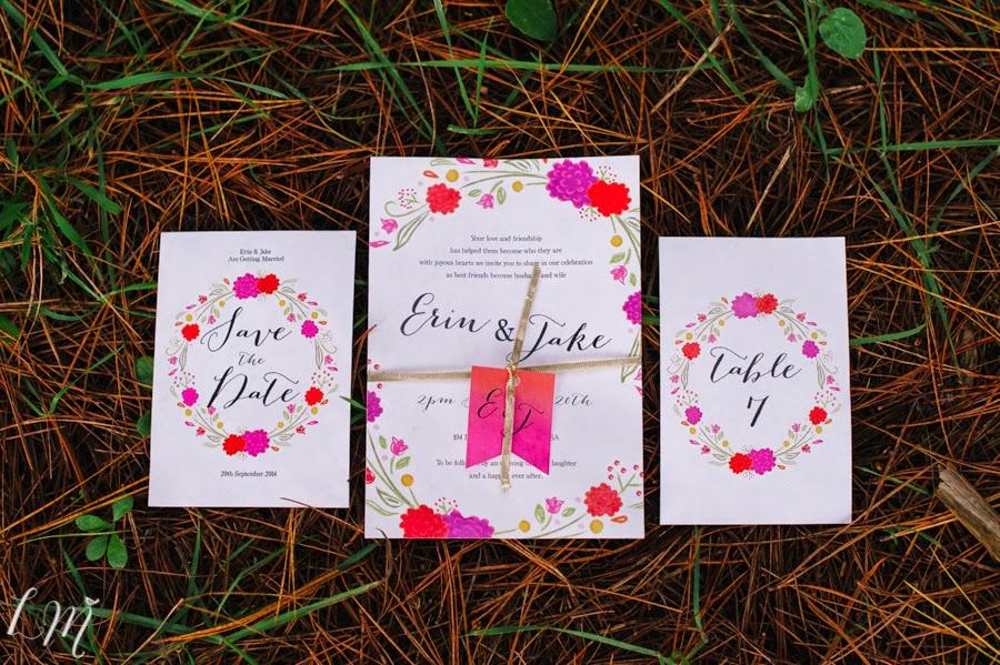 Bright Wedding Invitations: Bright And Rustic Wedding Invitations
