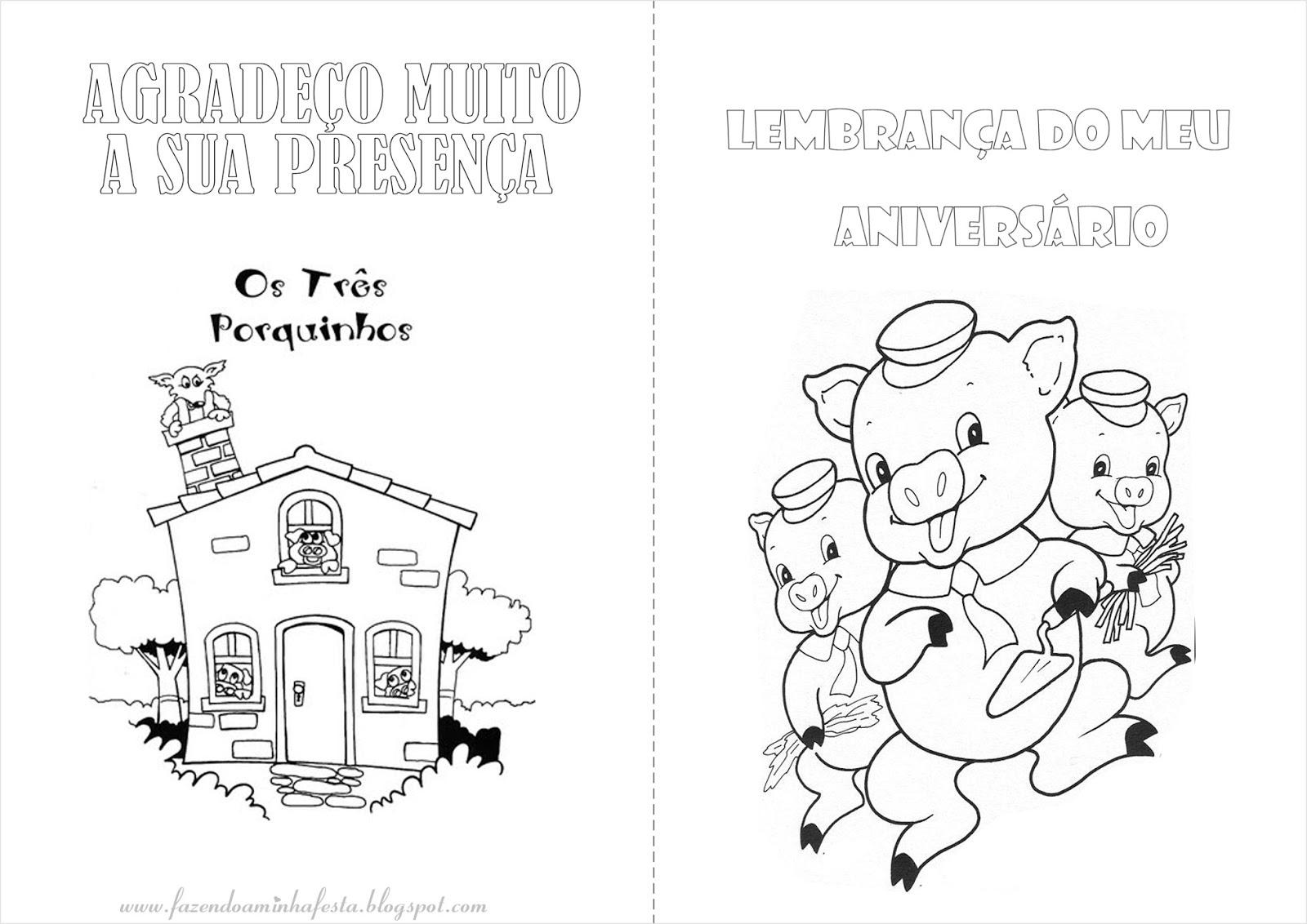 Os Tres Porquinhos Livrinho De Colorir