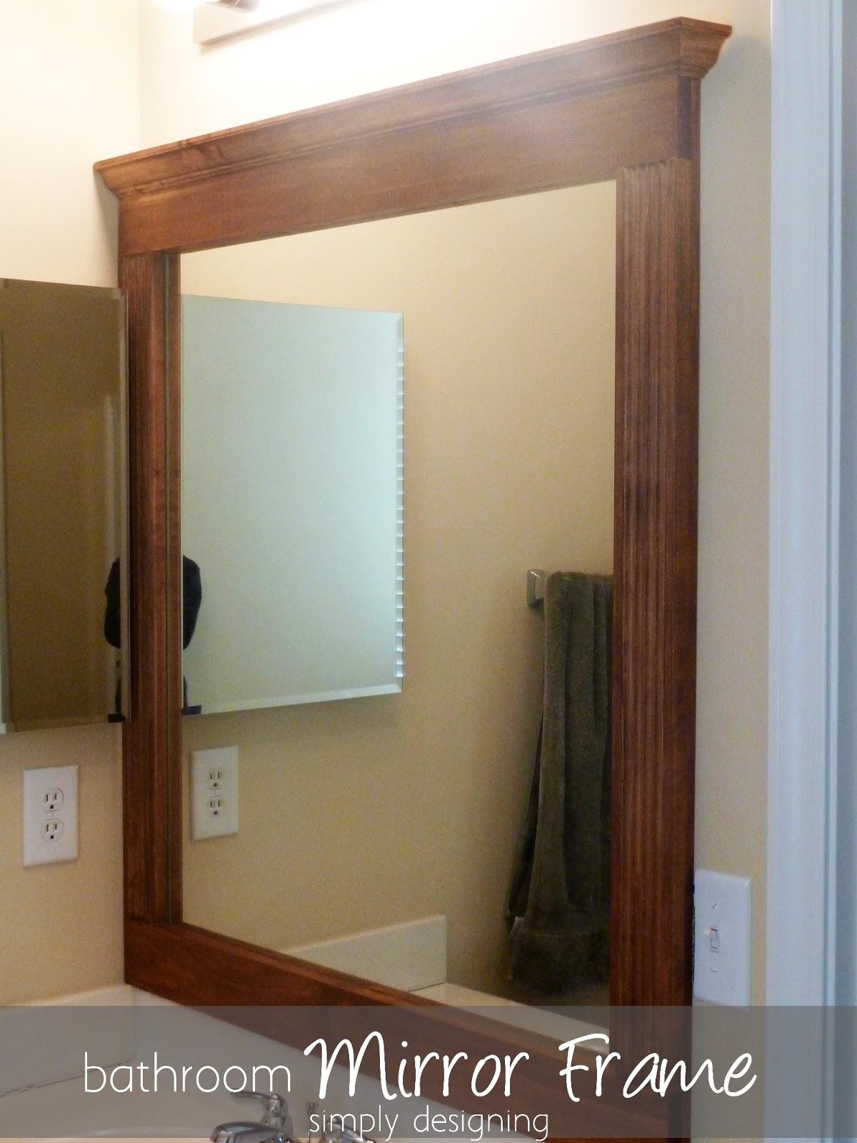 Bathroom Mirror Re-Vamp {Part 2}