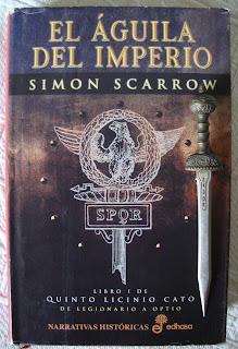 Portada del libro El águila del imperio, de Simon Scarrow