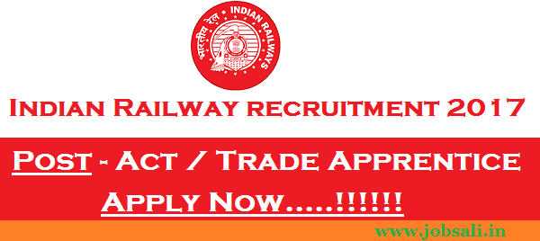Indian Railway jobs, Indian Railway Vacancy, Indian railway Apprentice Recruitment