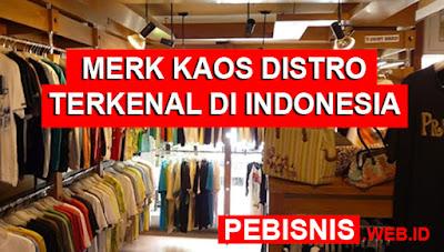 Merk Kaos Distro Ternama dan Terbaik di Indonesia