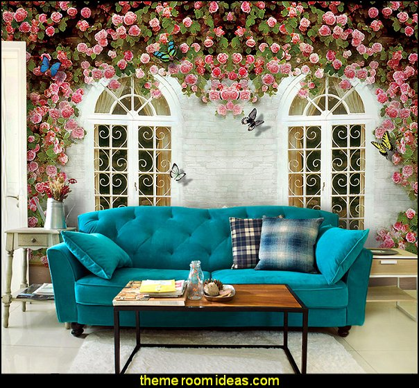 wallpaper rose 3d garden bedroom wallpaper murals