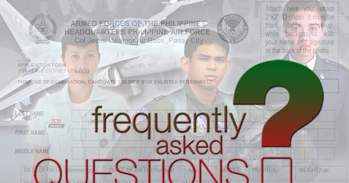 Frequently Ask Questions About PAF Officer Candidate