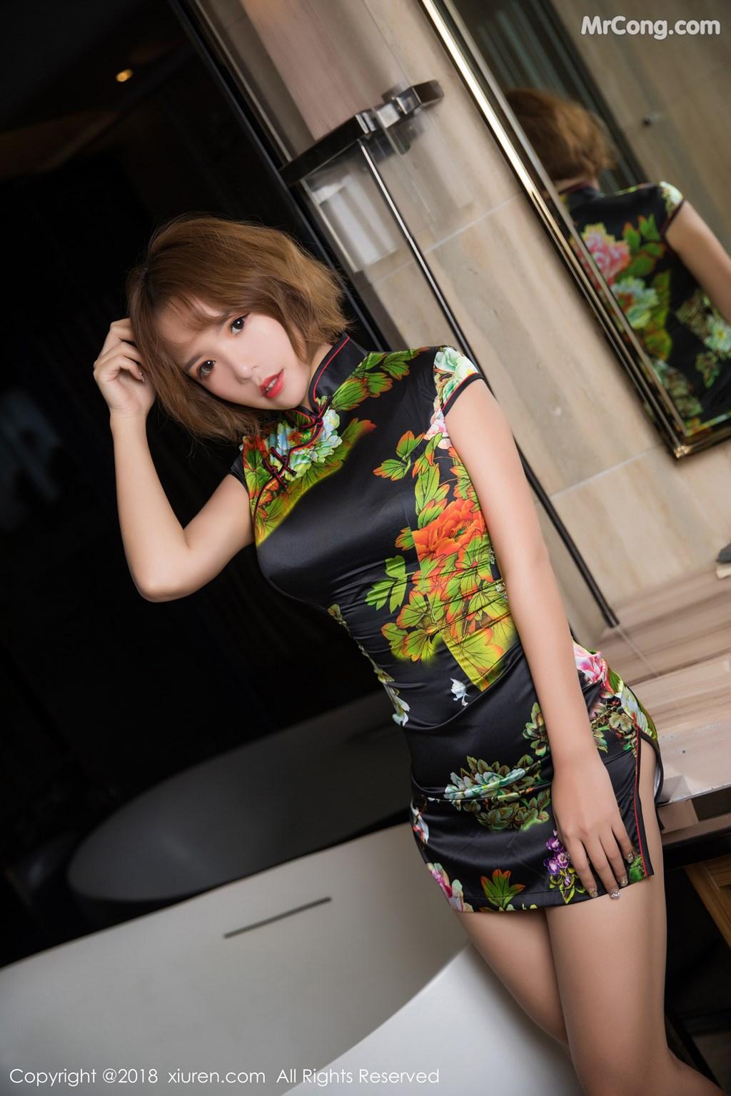 Image XIUREN-No.1264-Ya-Wen-MrCong.com-009 in post XIUREN No.1264: Người mẫu Ya Wen (雅雯) (61 ảnh)