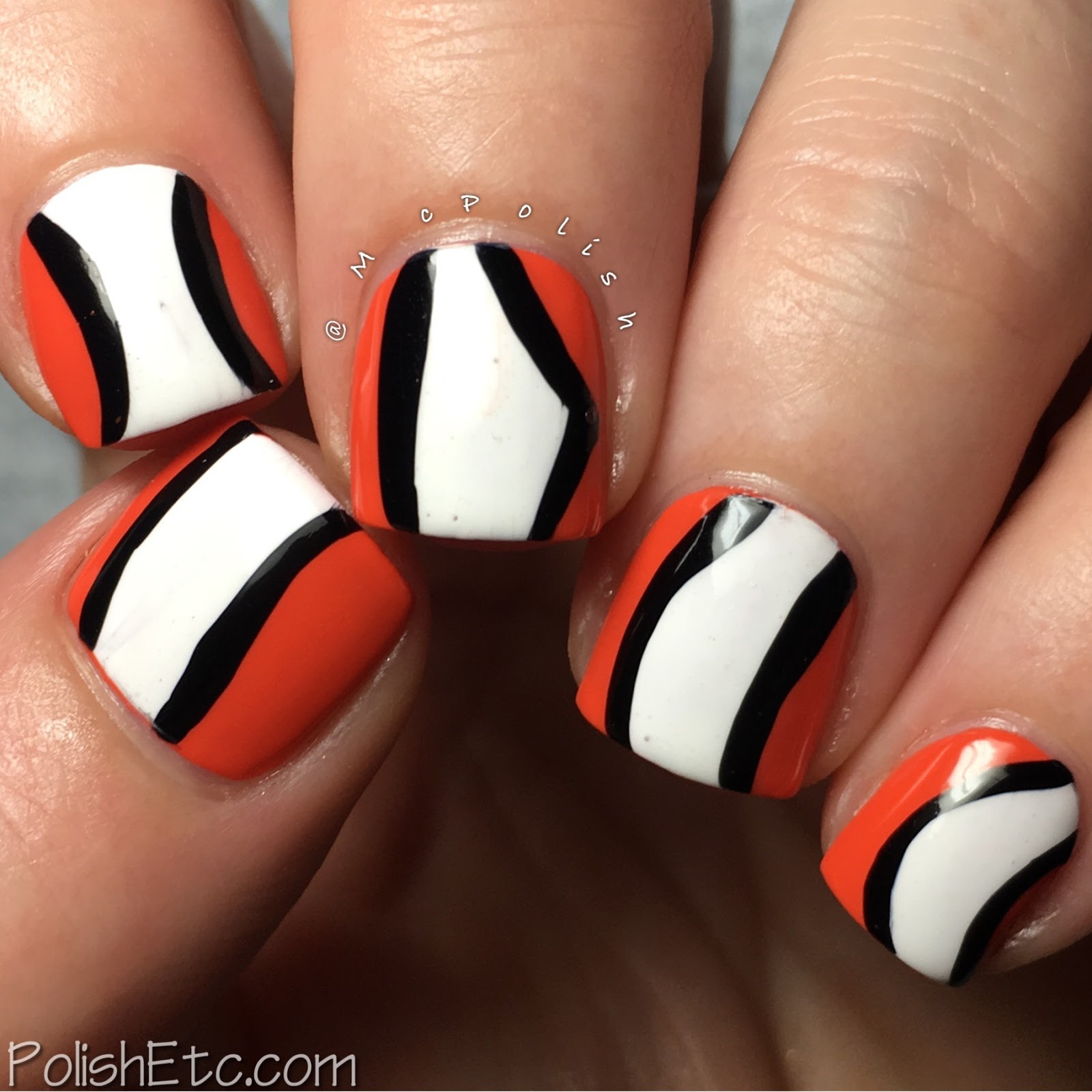 Clown Fish Nails for the #31DC2017Weekly - McPolish