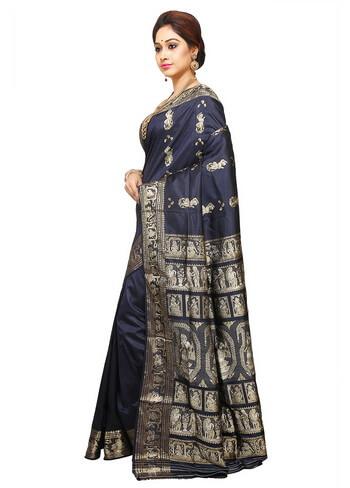 Black Baluchari Saree
