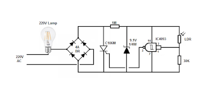 220v Photocell switch with 2 wires ~ Simple Projects