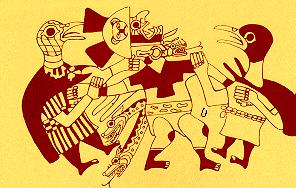 Pintura representativa de la cultura Moche o Mochica