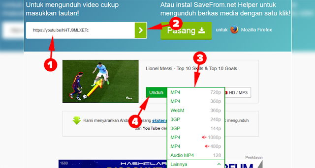 Cara Download Video Youtube dari Safefrom.net