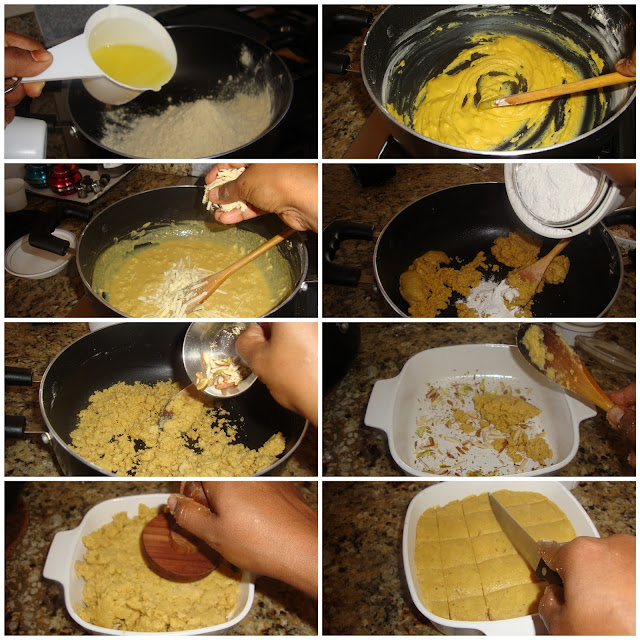 images of Besan Khoya Burfi Recipe / Besan Mawa Burfi Recipe / Besan Khova Barfi Recipe / Besan ki Barfi With khoya Recipe