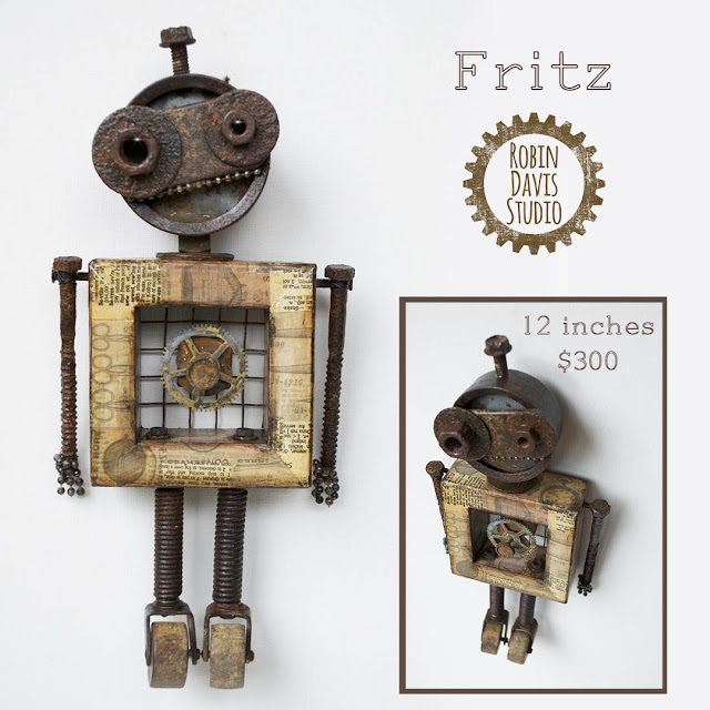Robot Fritz Art Piece by Robin Davis Studio