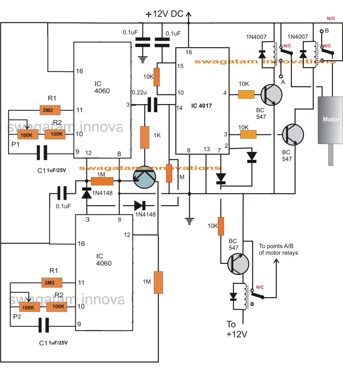 Programmable Bidirectional Motor Timer Circuit