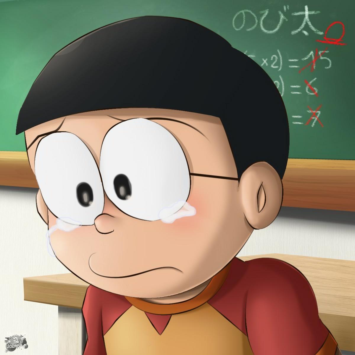 Sad Nobita Crying Image