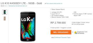 Harga Terbaru LG K10 LTE