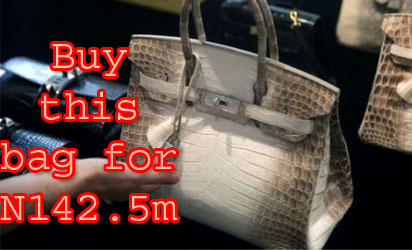 Buy this bag for N142.5m
