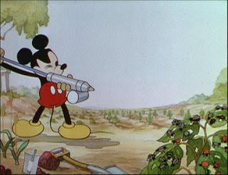 Scena da Topolino giardiniere
