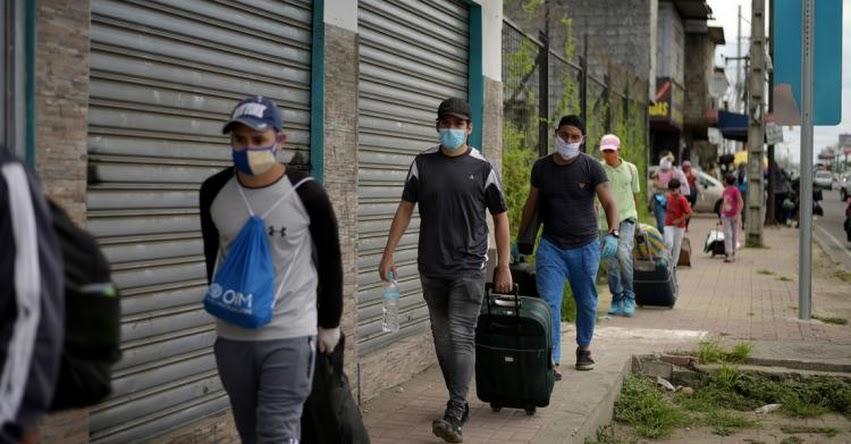 CORONAVIRUS: Más de 600 venezolanos regresan diariamente a su país desde Colombia, Ecuador y Perú en medio de la pandemia