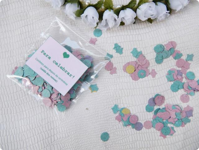 confete para jogar nos noivos