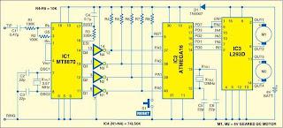 8x8 dotmatrix scrolling led display schematic