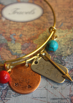 travel map jewelry