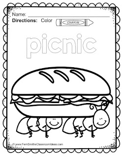 Fern Smith's Classroom Ideas Freebie Friday's FREE Color For Fun Summer Printable for newsletter subscribers only.