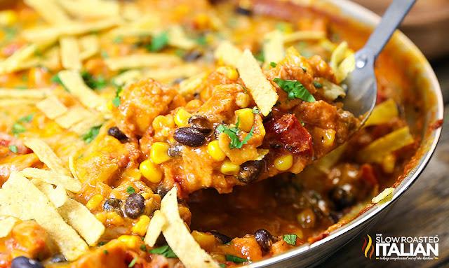 http://theslowroasteditalian-printablerecipe.blogspot.com/2015/10/cheesy-chicken-enchilada-skillet.html