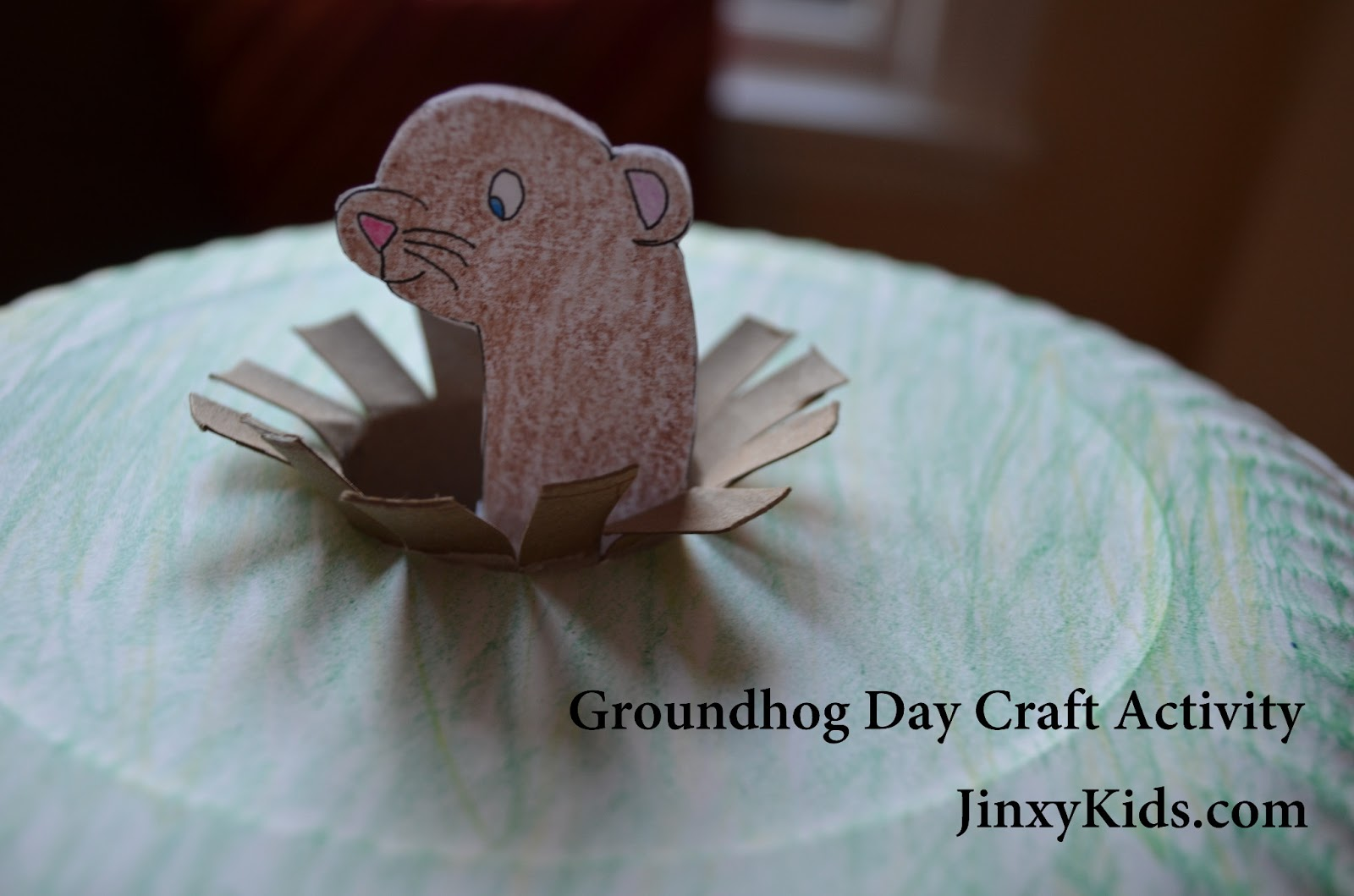 photograph relating to Ground Hog Printable referred to as Groundhog Working day Craft Game with Printable Habit - Jinxy Little ones