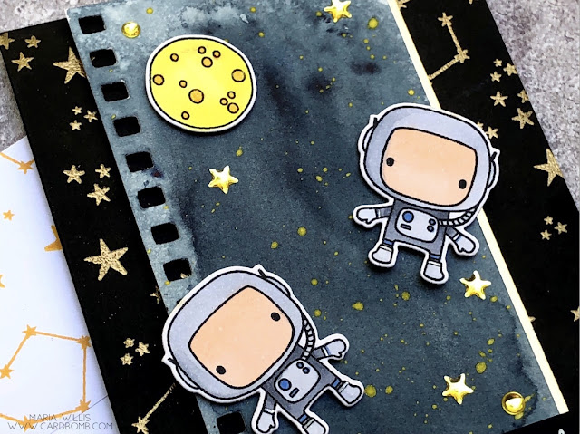 #art, #card, #cardbomb, #cardmaking, #color, #copics, #ink, #moonmen, #nuvoshimmerpowder, #outerspace, #paper, #papercraft, #reverseconfetti, #stamping, #tonicstudiosusa, #video, #videotutorial, #watercolor,