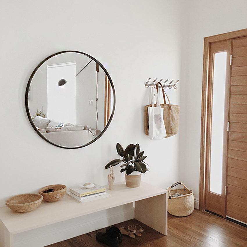 espejo para decorar un recibidor