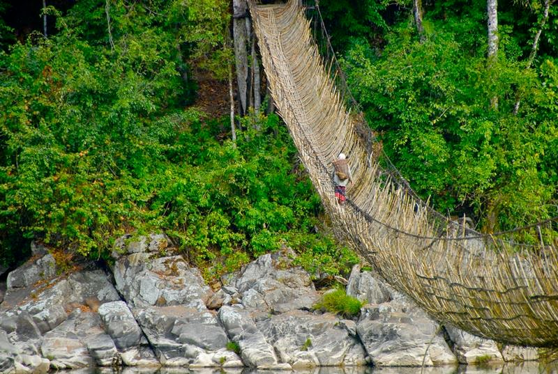 Hanging Bamboo Bridges on the Siang River | Along, Arunchal Pradesh
