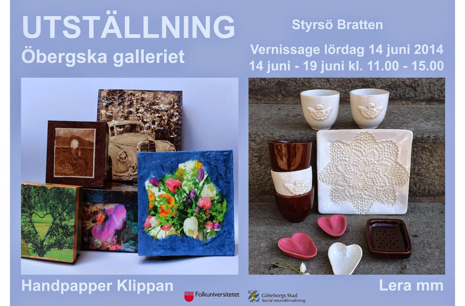 Öppet 14 juni - 19 juni kl. 11.00-15.00. Närmaste hållplats är Styrsö  Bratten. (Café Öbergska  www.obergska.se) 555c7878afdb2
