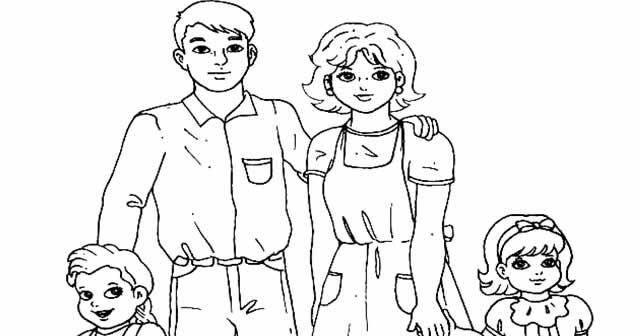 Dibujos De Familia Imágenes Para Colorear Y Pintar: Mi Familia Y Yo Para Colorear