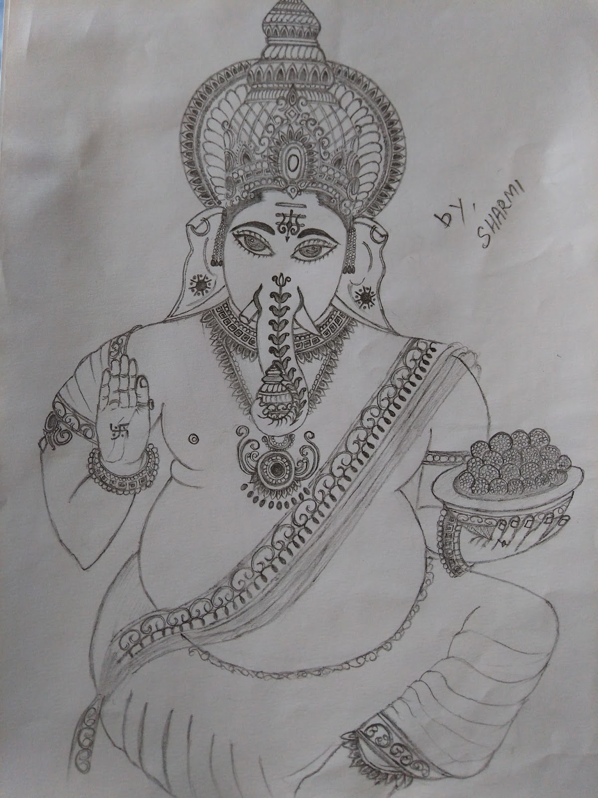 Drawing magical vinayagar